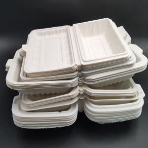 plastic storage box100% biodegradable lunch box cornstarch disposable plastic food container