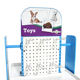 Toy Display Rack Customized High Quality Universal Adjustable Pet Shop Toy Display Stand Retail Pet Accessories Display Rack