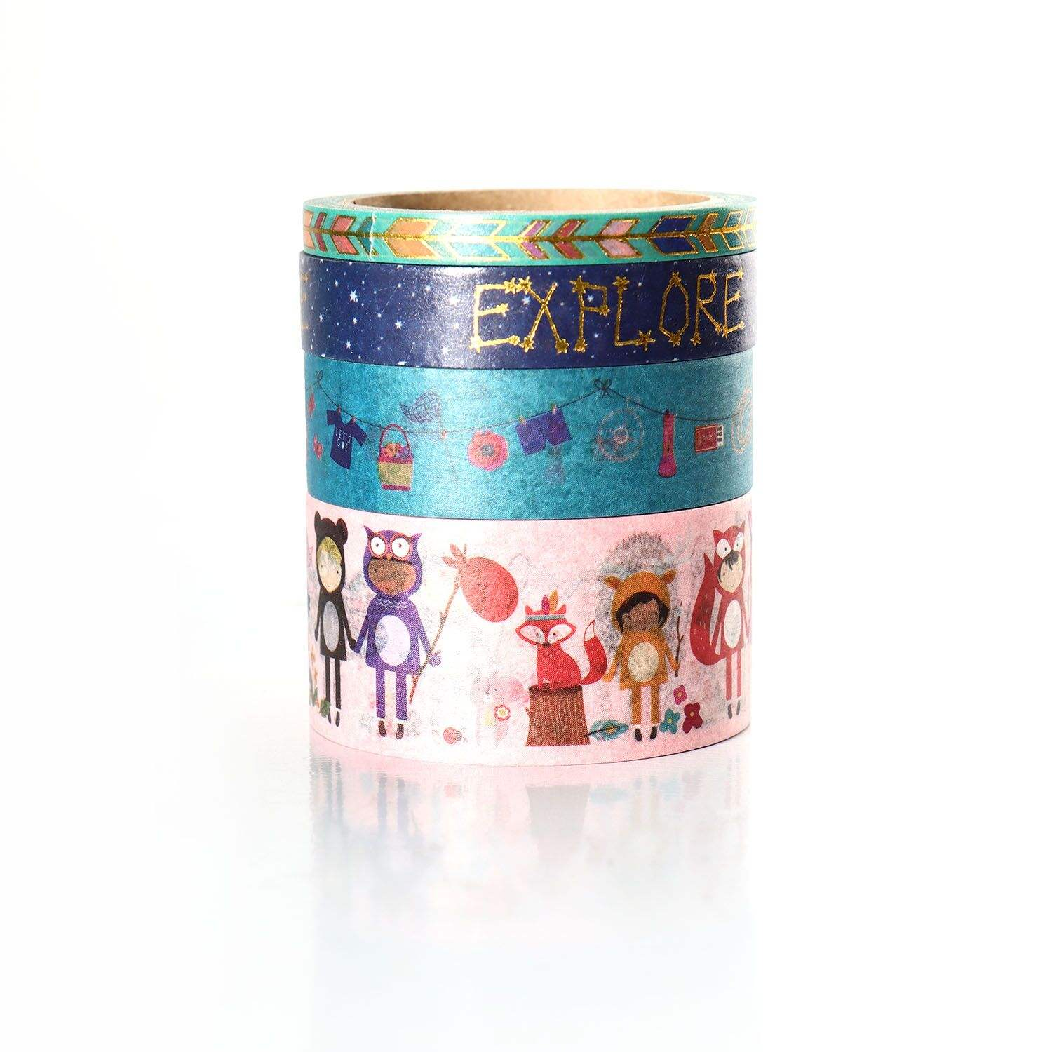Hot Deal Tape With Printing In Stock Tape With Printing Custom Printed Washi Tape Sets For Diy Craft