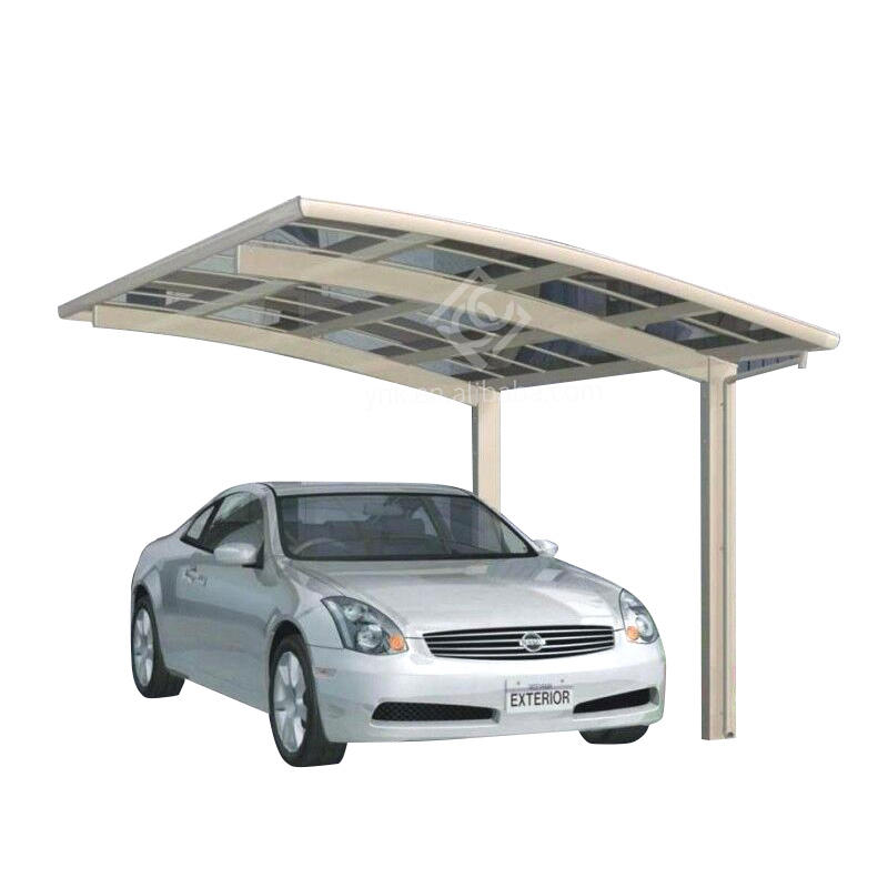 Carports&Garages aluminum bracket PC solid roof board car shelter/ car parking tent