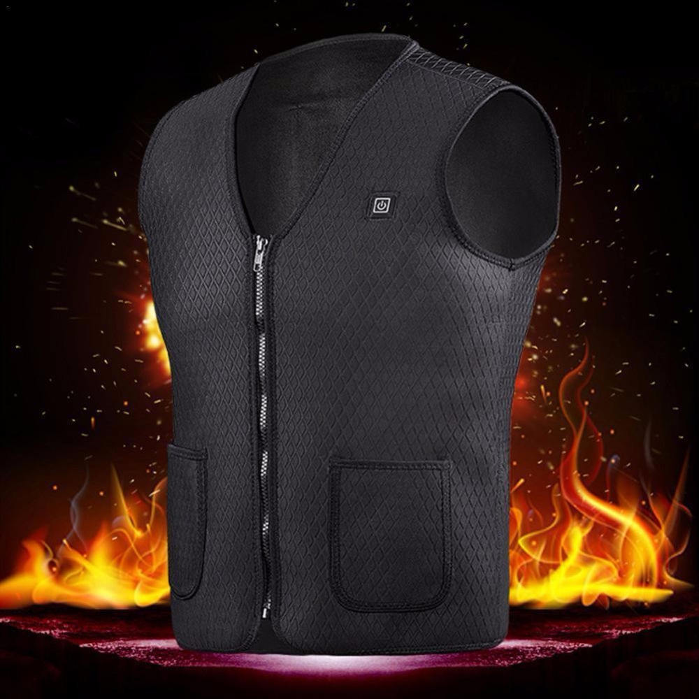 Male Female Heated Vest Warm Winter Men's Clothing USB electrical heating Sports thermal vest