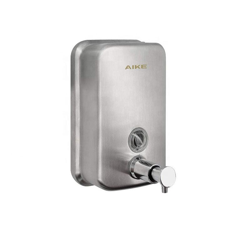 AK1001 Custom Commercial Bathroom Hand Touch Stainless Steel Liquid manual Soap Dispenser Wall Mounted