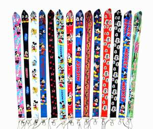 Mickey Minnie Lanyard Sleutelhangers Cadeaus Neck Strap Card Bus Id Houders