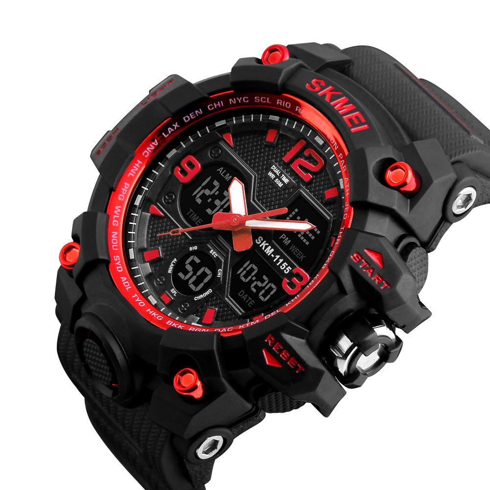 Skmei 1155 big dial fasion sport digital chronograph watches men