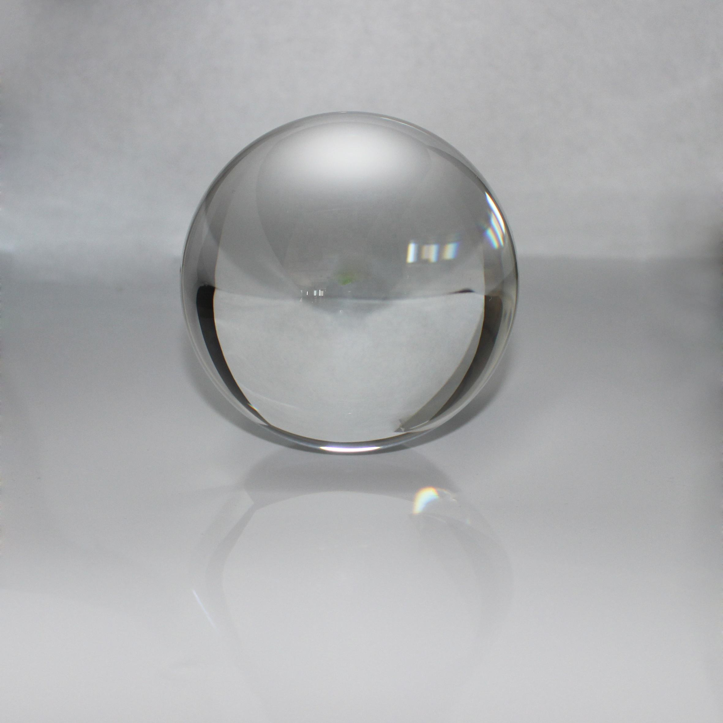 12mm Glass Crystal Paper Weight Clear Half Sphere Ball Magnifying Glass Lens