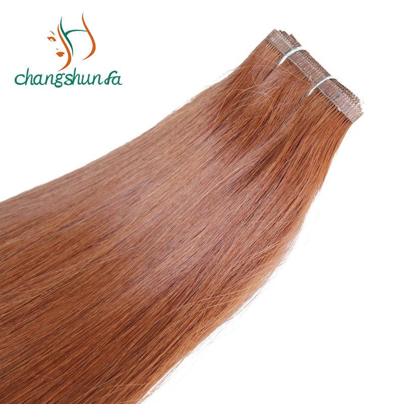 Europe Salon fashion top grade hair extensions virgin cuticle aligned hair color#30 double drawn Invisible flat weft
