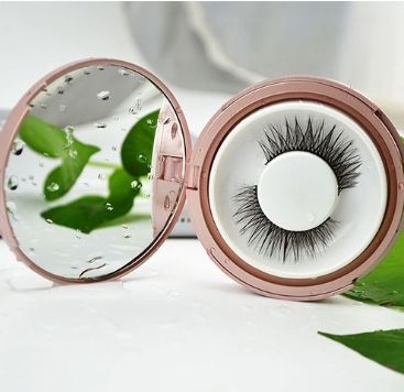 2019 Wholesale Empty Round Eyelashes Packaging Box Acrylic Circle Eyelash Packaging Case With Mirror