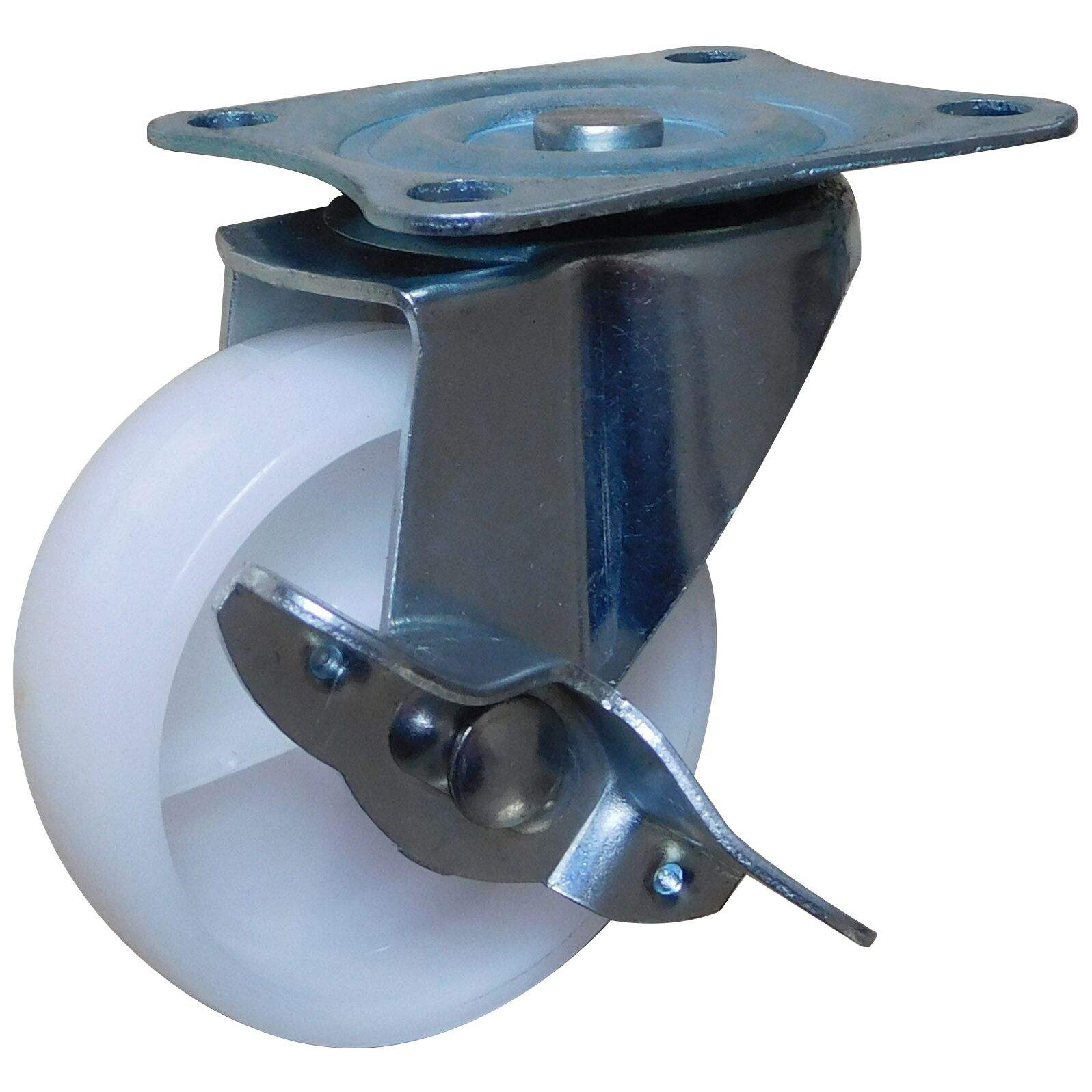 Hot Sale 2 Inch Small Swivel White PP Caster Wheel With Brake