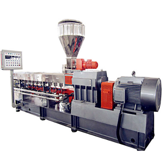 Twin Screw Extruder 200-300キログラム/時間PLA Pellet Granules Making Machine Line