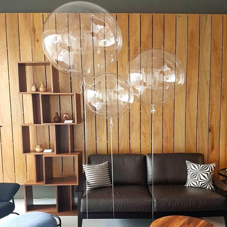 Hot sale 10/18/24/36inch PVC Plastic Bobo Balloon Clear Transparent Round Shape Bubble Balloons