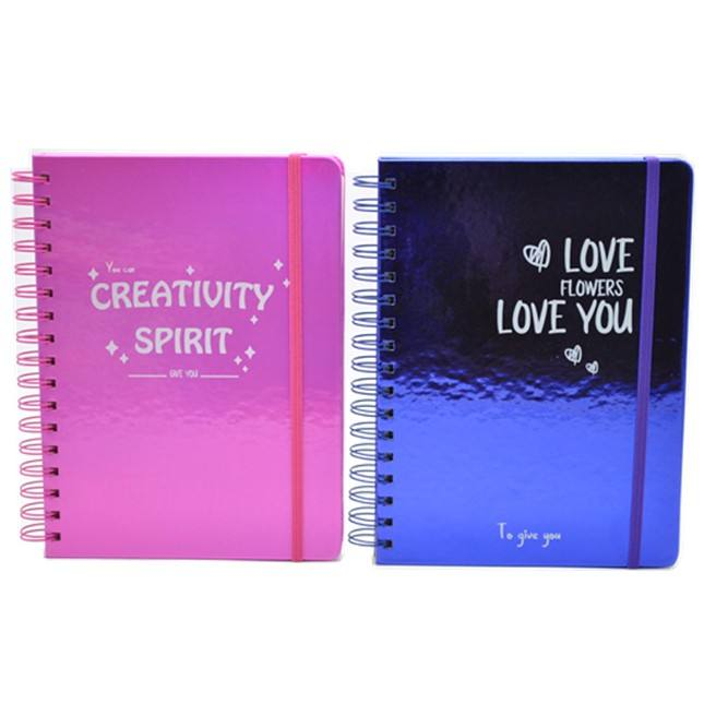 2020 new personalised custom laser shiny pu faux leather B5 agenda planner organizer stationery double wire-o spiral notebooks