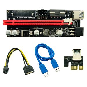 60CM VER 009S PCI-E 1X to 16X LER Riser 009 Card Extender PCI Express Adapter USB 3.0 Cable Power