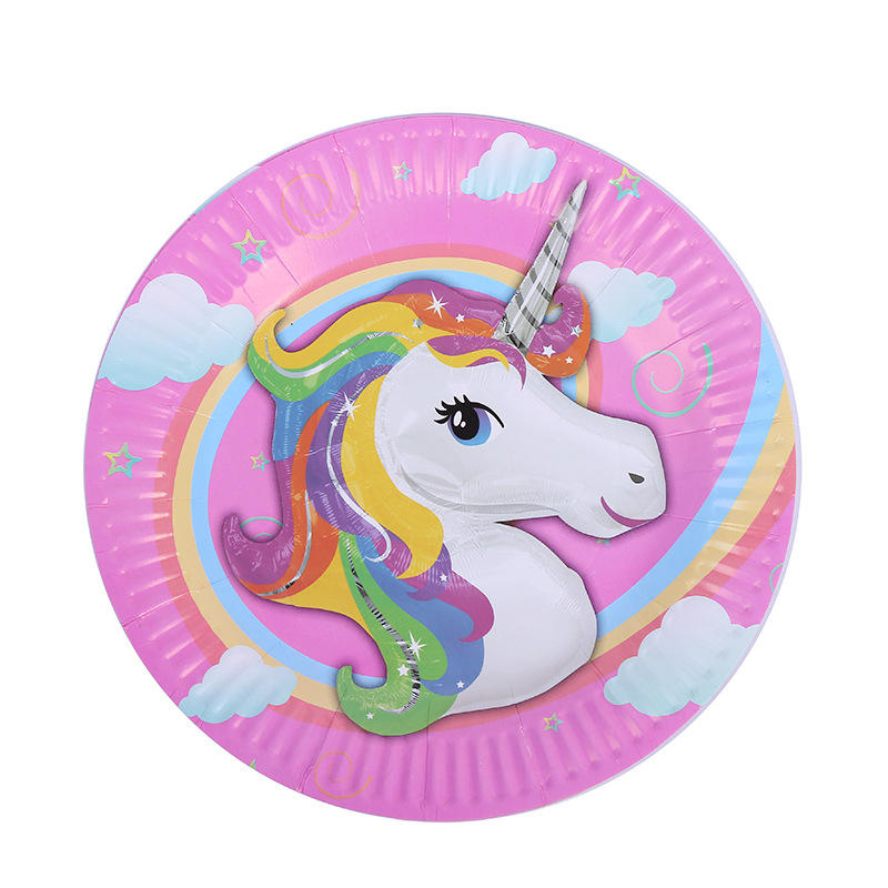 Unicorn Happy Birthday Party Supplies Decorations Kids Adult Favors Tableware Plates Cups Tablecloth Banners cake topper decor