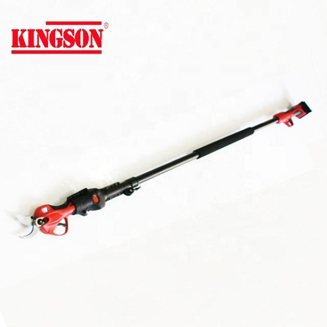 Telescopic electric pruning shear and electric extension pole pruner for orchard trees