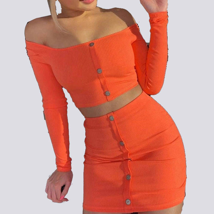 2019 New Design Casual Dresses Hot Erotic Long Sleeve Women body suit Two Pieces Set
