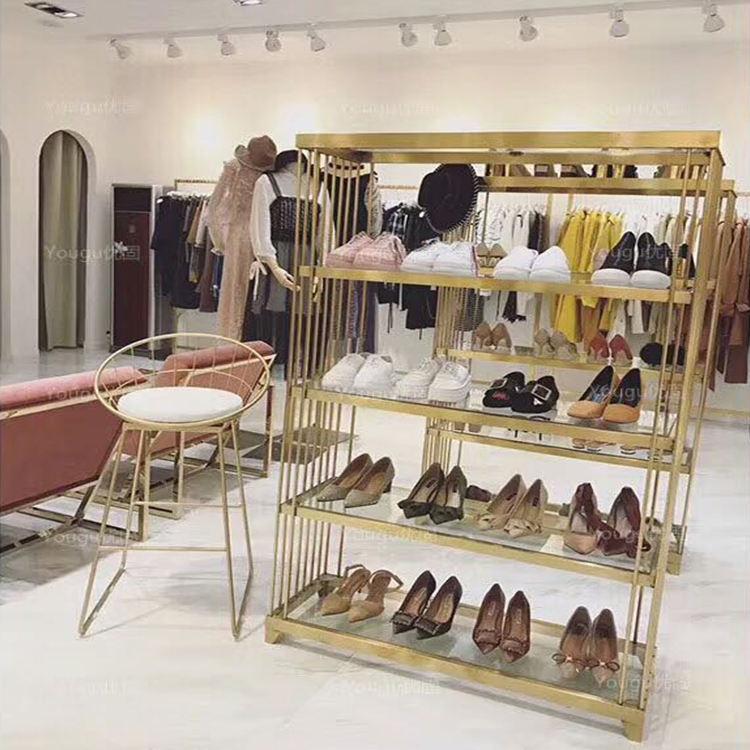 En gros Boutique en ligne magasin de chaussures décorer présentoir de vente au détail
