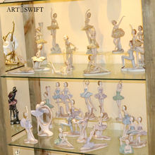 wholesale custom souvenir resin ballet dancer figures statue home decoration