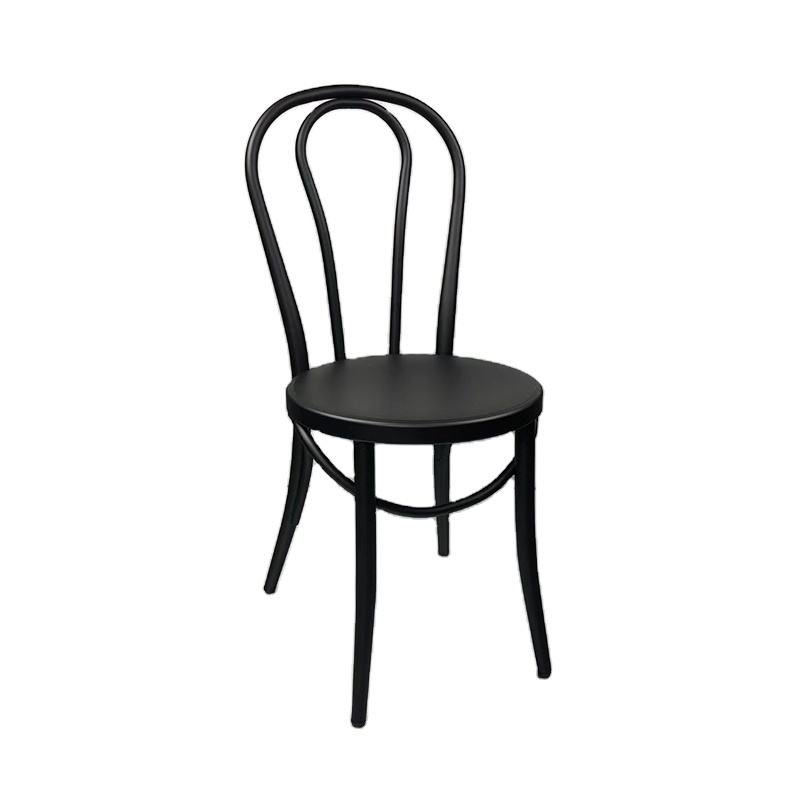 black color new modern commercial banquet dining outdoor restaurant white thonet chair for events