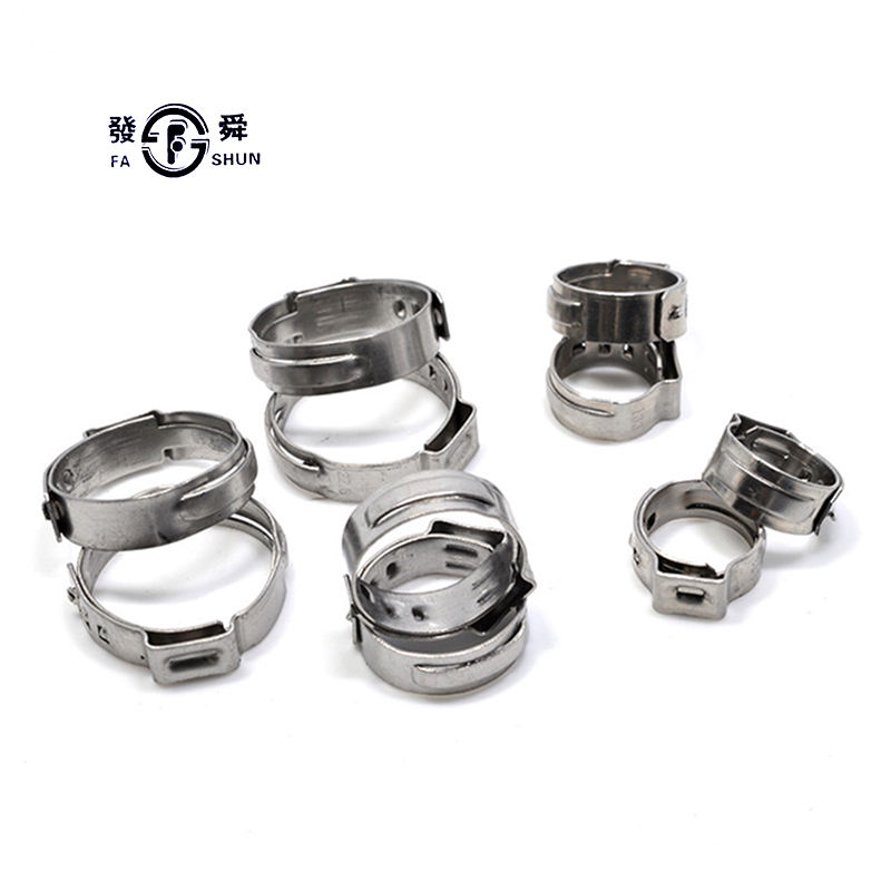 [ Pipe Clamp ] Factory Price Customize Galvanized Steel Anti Vibration Safety Adjustable Stepless Ss304 Pipe Ear Clamp