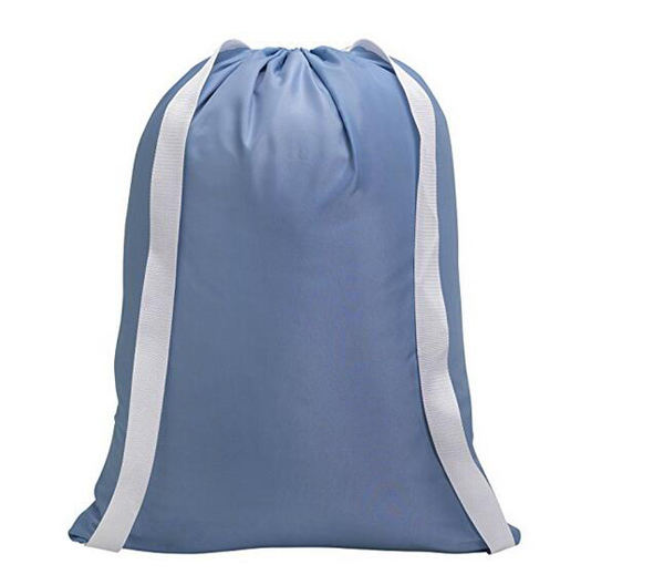 Extra Customized cheap oversize durable reusable nylon drawstring polyester laundry bag for hotel