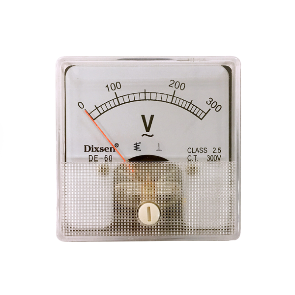 0-300 v Kare Mini Analog Panel Voltmetre