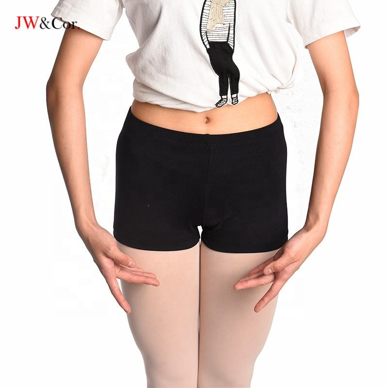 JW Wholesale supplex girls black dance shorts