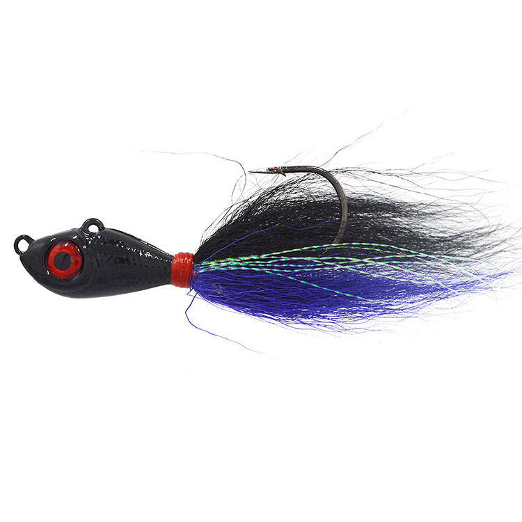 Hot Sale Bucktail Jig Fishing Lures Freshwater Saltwater Fishing Jig Lure Bait Kit, Bass Striper Bluefish Surf Fishing