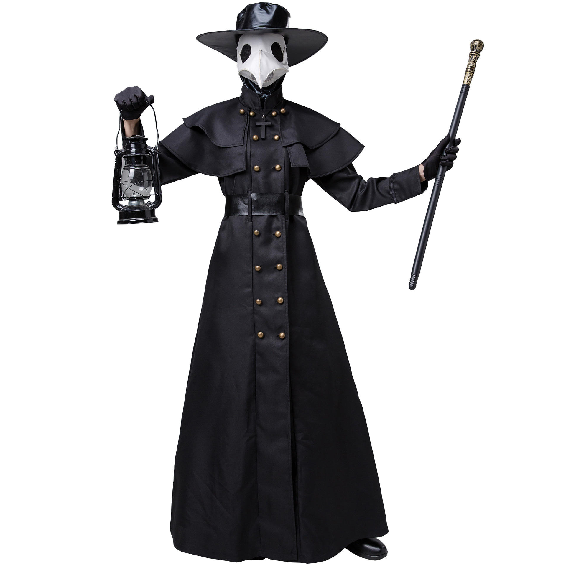 S-xl Medieval steampunk Halloween costume for adult European and American plague doctor Crow long Beak movie costumes