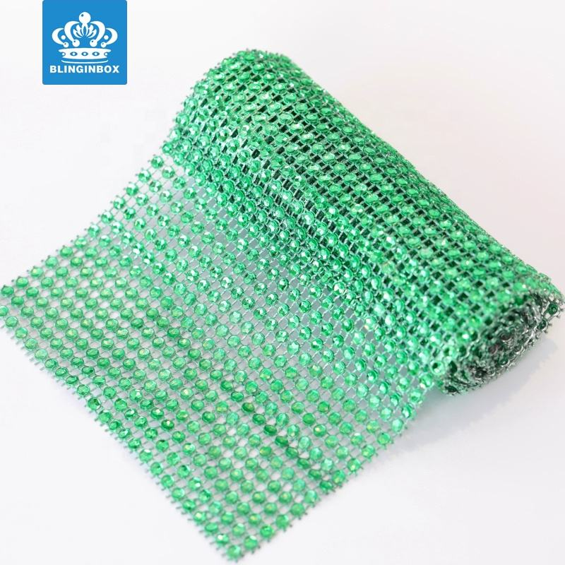Blinginbox Over 23 Colors Width 14cm 24 Rows 4mm Plastic Mesh Trimming Without Rhinestones for Jewelry Decoration