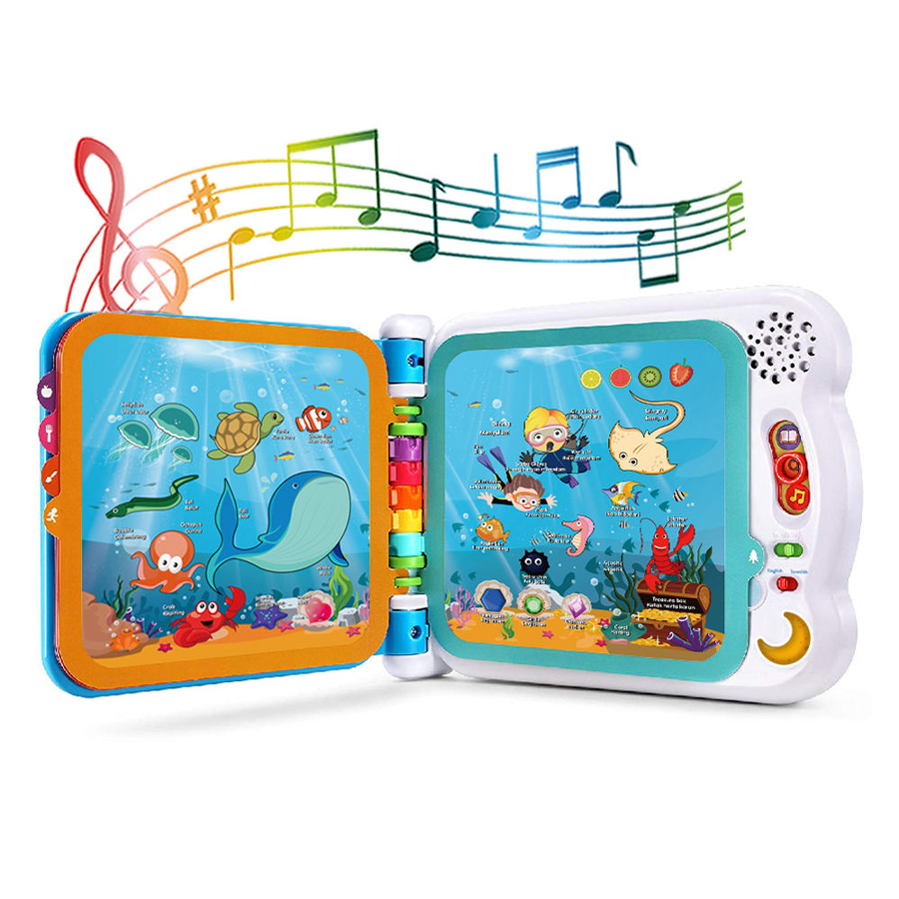 Intelligent mini educational toy all in one children French English learning laptop kids computer