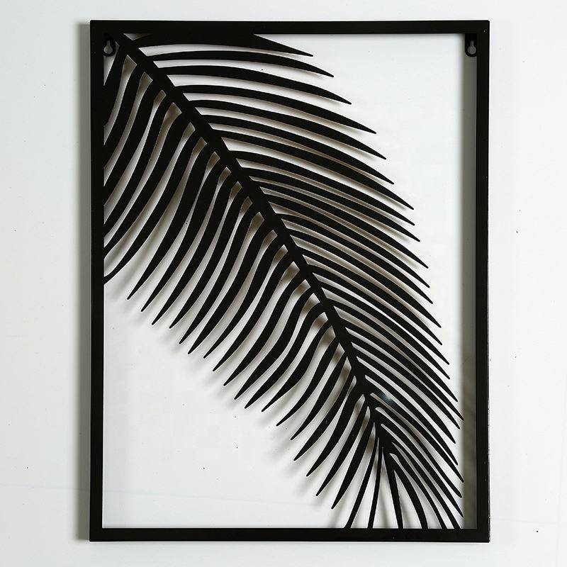 Metal Wall Art Iron Palm Leaf Home Hotel Decoration Piece