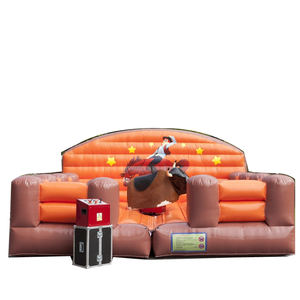 inflatable rodeo bull game