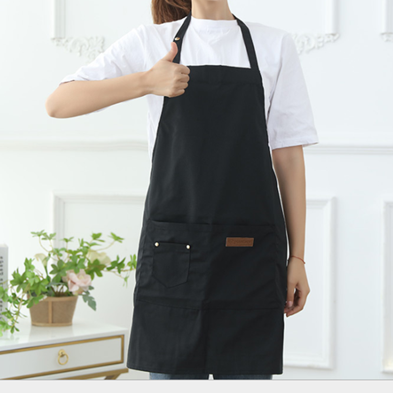 EAST logo custom kitchen apron, cooking Cotton canvas apron with pocket