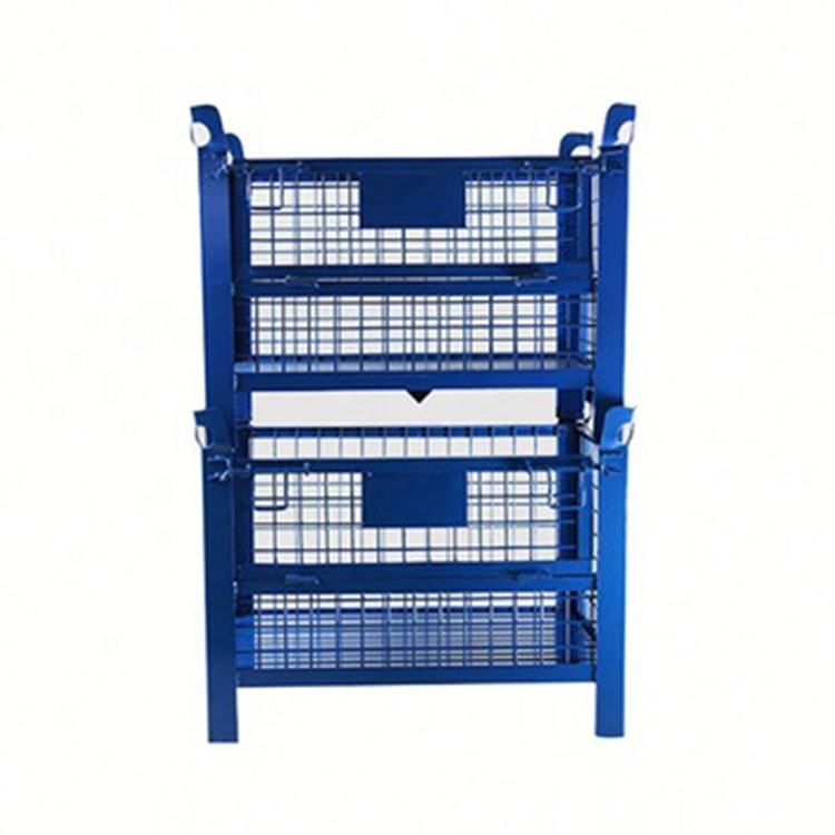 Australian heavy duty stacking folding collapsible steel metal storage pallet wire mesh stillage cage
