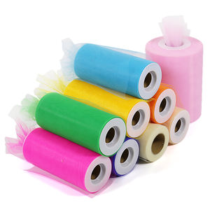 Wholesale Skirt Wedding Dress Tutu 100 Yards Soft 6 Inch Tulle Rolls Nylon Fabric Tulle Rolls For Decoration