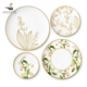 Lily of the valley bone china dinnerware sets floral porcelain dinner set charger plates