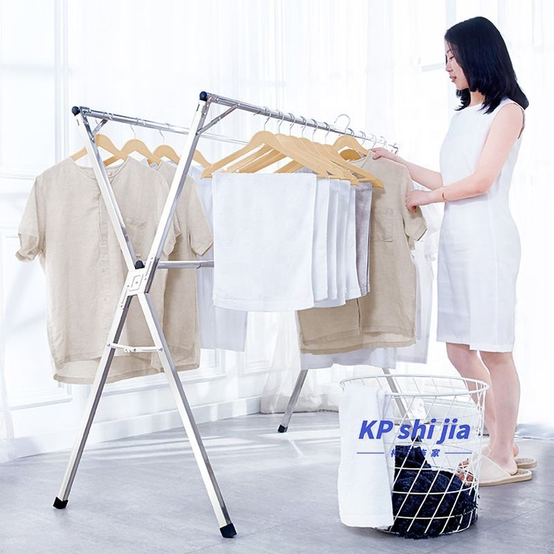 Foldable Clothes Drying Rack Rolling Collapsible Laundry Dryer