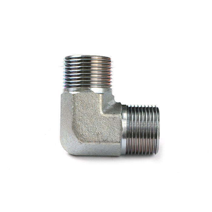 Zinc 1/2 Pipe Fittings Bsp Male Hydraulic Connectors To 3/4 Stainless Steel Bsp Thread 90 Hose Adapters