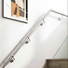 SS304 Railings Horseshoe Shaped Handrails Pipe Stainless Steel Slotted Handrail Tube