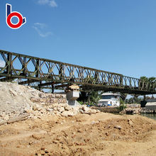 Steel Structure Prefab Portable Bailey Bridge with galvanization corrosion
