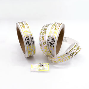 Made in China Adhesive Vinyl Gold Foil Logo Custom Transparent Sticker