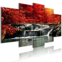 Wall Art Modern Print 5 Piece Home Decor Landscape Oil Paintings Prints Tree Custom Poster Nature Canvas Painting