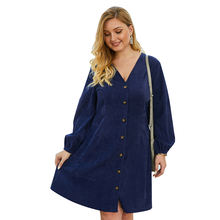 Factory Direct High Quality women oversize dresses plus size dress for casual loose fit summer dress