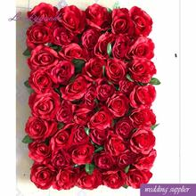 LFB900 Valentine day romantic emulation flower wall backdrop elegant red rose wall for sale