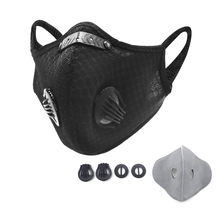 2020 NEW Pm2.5 filter anti dust bicycle mask Activated Carbon  motorcycle cycling black Mesh Sport mask