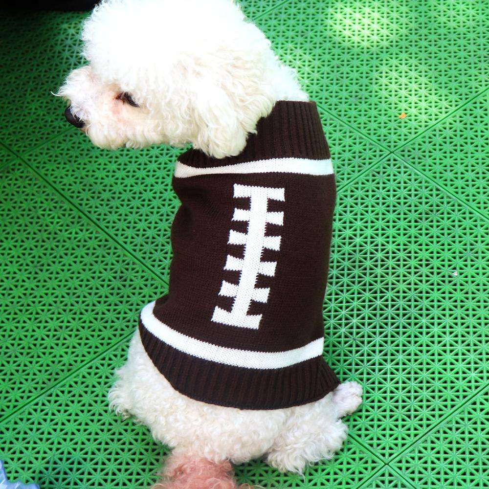 Wholesale Dogs Knitted Sweater Teddy Small Dogs Leopard Sweater Crochet Sport Style Sweater Dog Winter Warmer PulloverDOM1061482