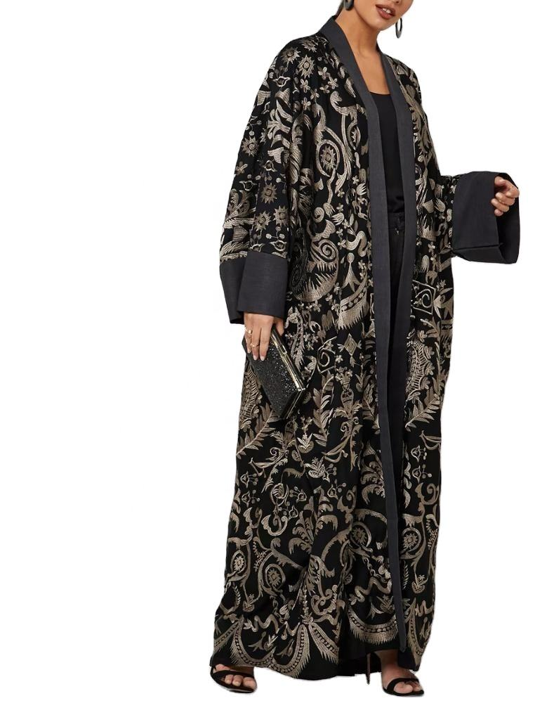 Abaya manufacturer multicolour plus size robe designer clothing comfortable and soft muslim abaya ST081303