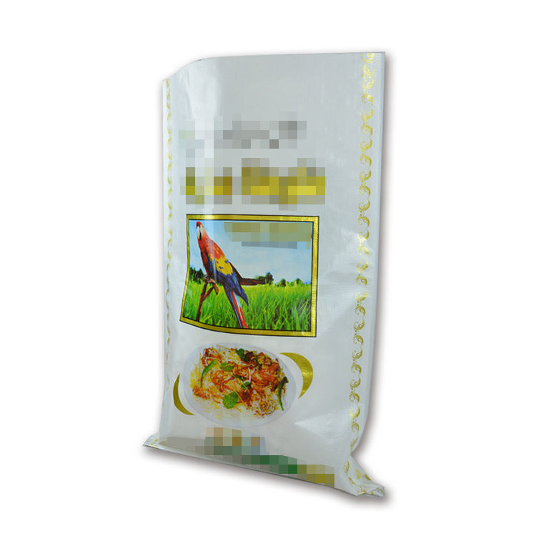 Laminated coloured organic rice sack packing bag 25kg 50kg bag of rice