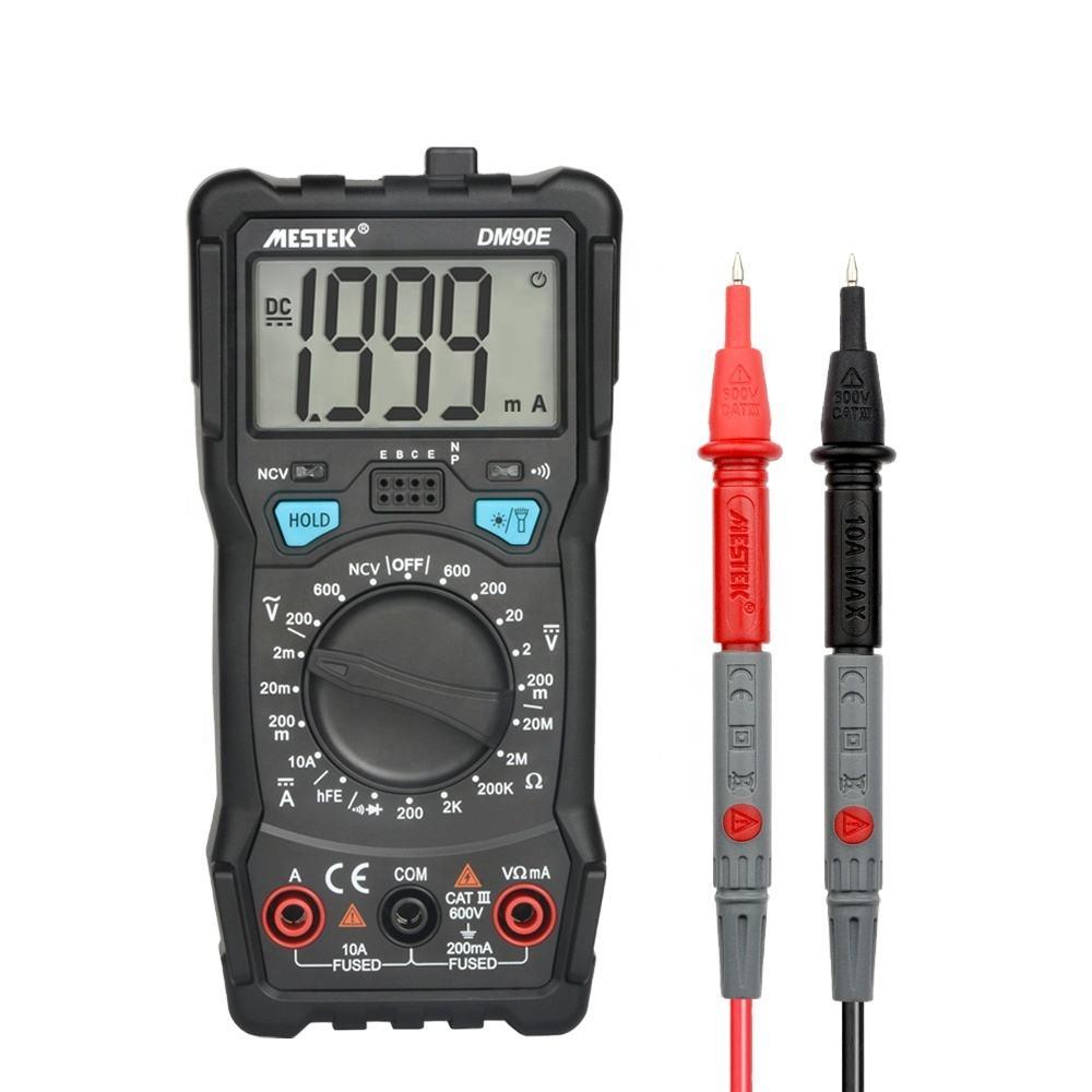 MESTEK wholesale new products Multimeter DC/AC Voltage Current Resistance Meter NCV True RMS Portable Digital Multimeters