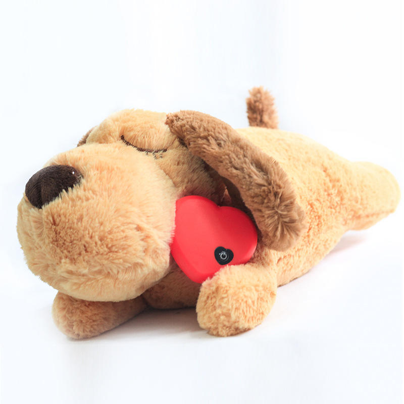Amazon Hot Selling Pet Anxiety Accompanying Sleep Toy Dog Interaction Plush Heartbeat Cat Toy Pet Toy
